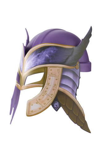 Raveleijn helm paars incl. masker Emma