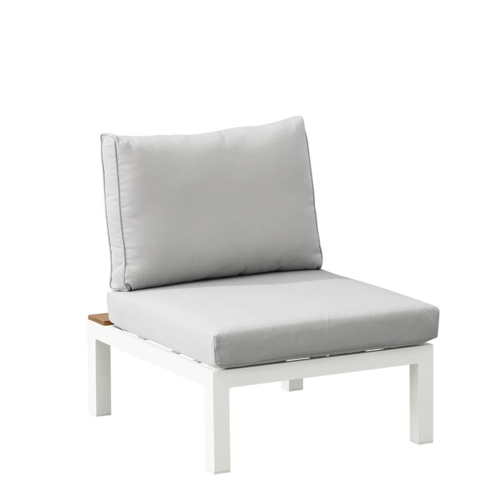 Exotan loungestoel  La Vida (hout), Lichtgrijs/wit/naturel
