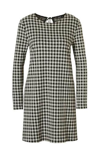 jurk geruit zwart/wit