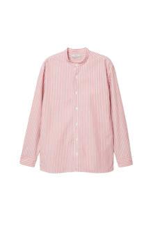 gestreept regular fit overhemd roze