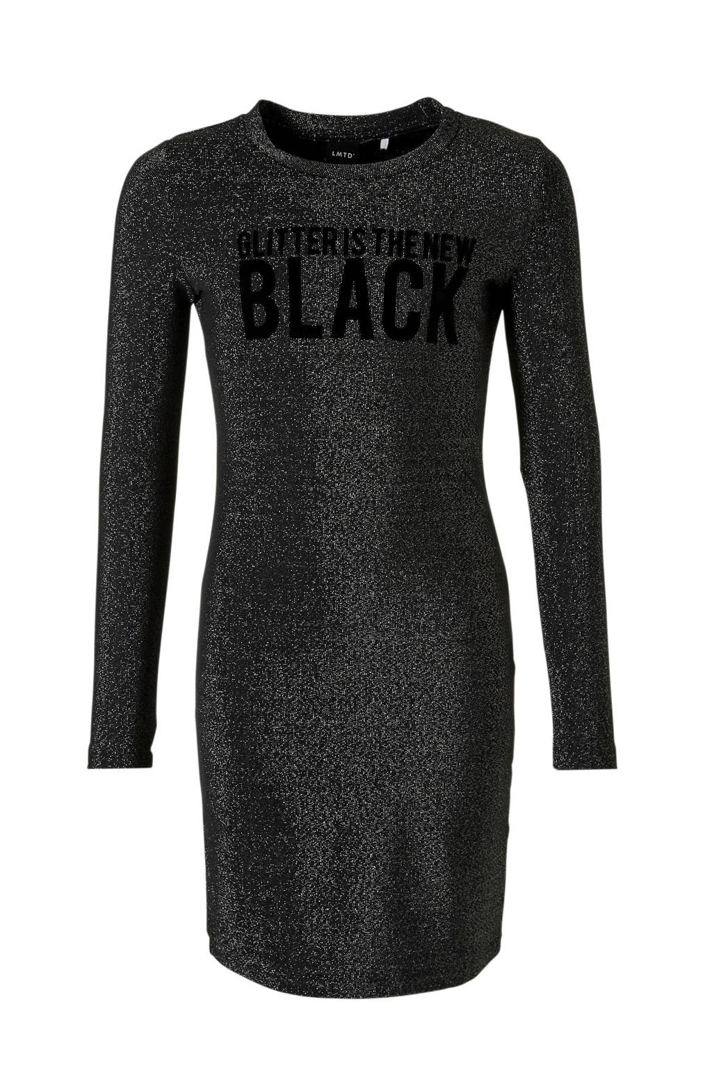 LMTD glitterjurk Siga zwart, Zwart/zilver