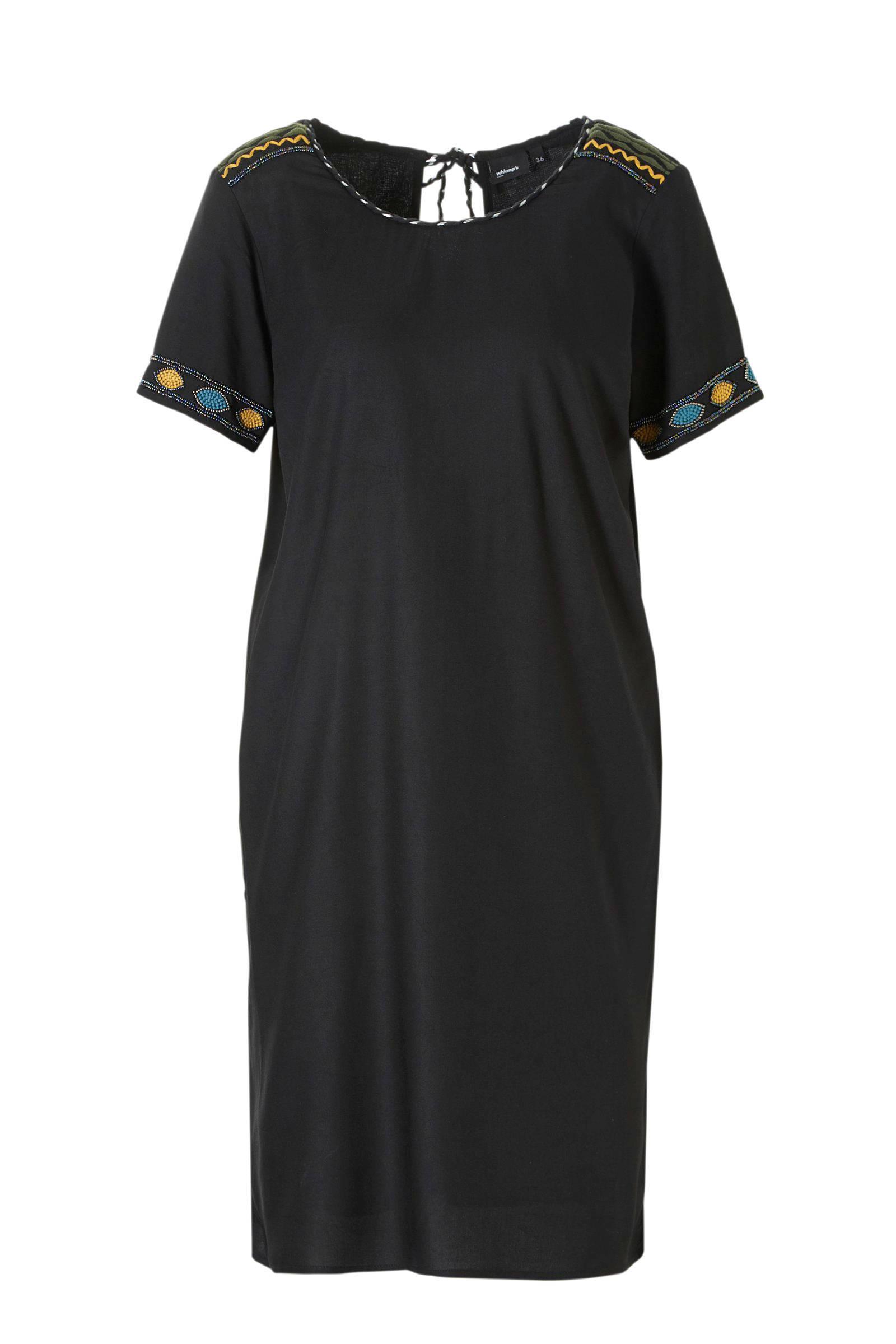 zwart jurkje zonder mouw