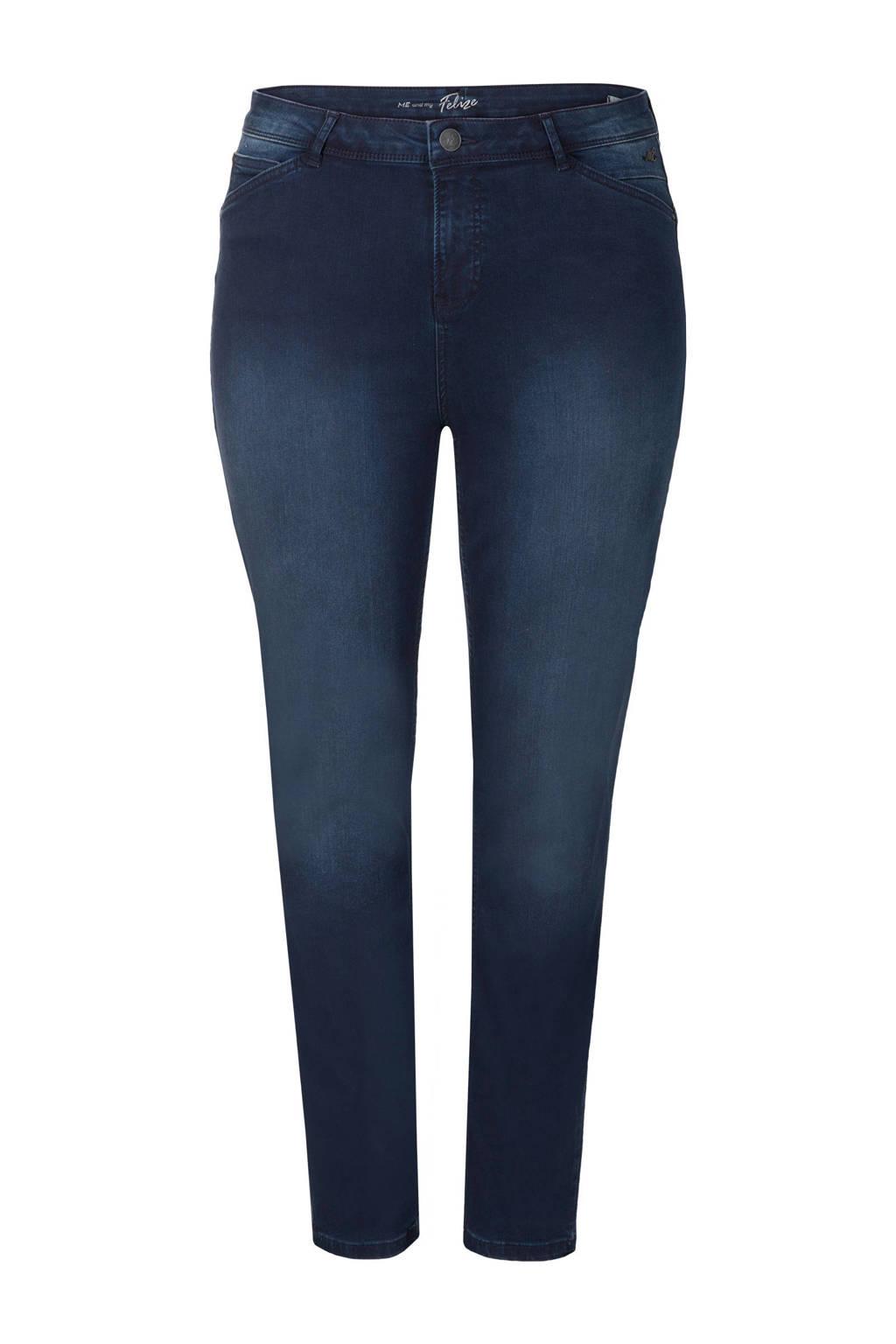 Miss Etam Plus skinny jeans 32 inch donkerblauw, Donkerblauw