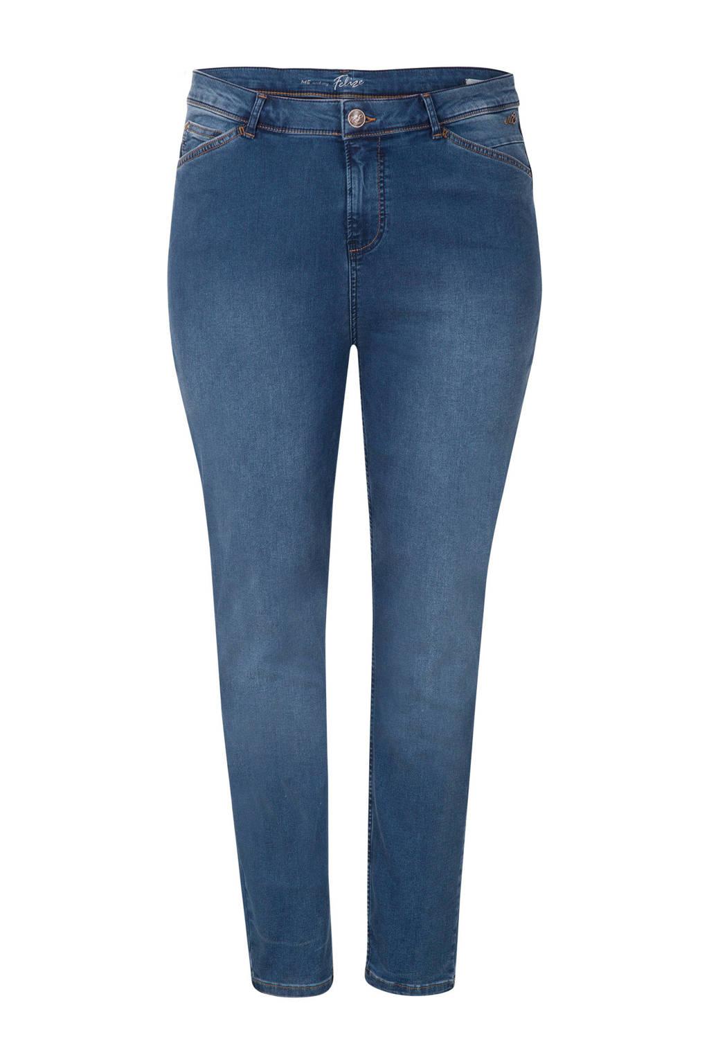 Miss Etam Plus skinny jeans 32 inch blauw, Blauw