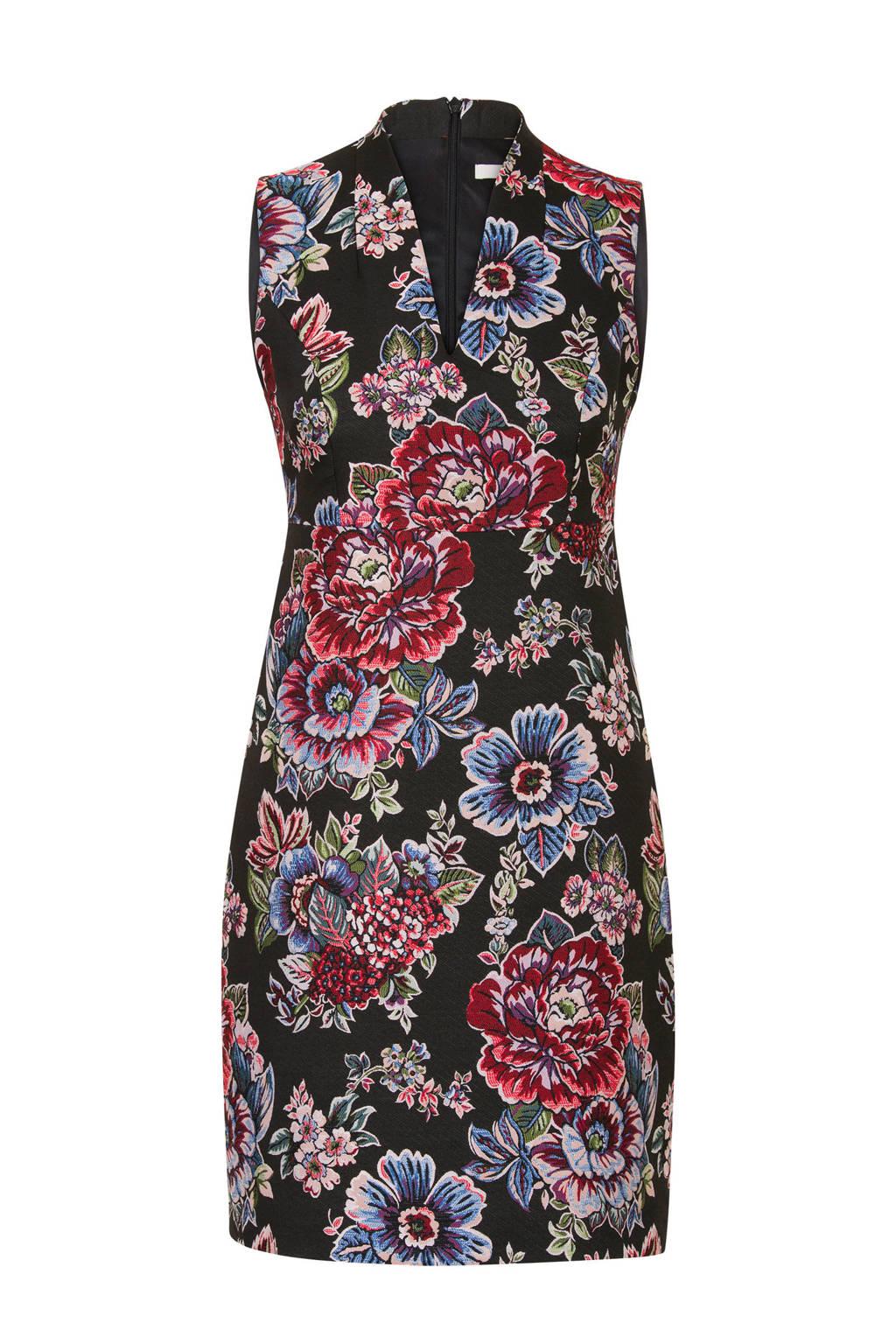 444a6219aa7 Steps jacquard jurk met bloemen zwart | wehkamp