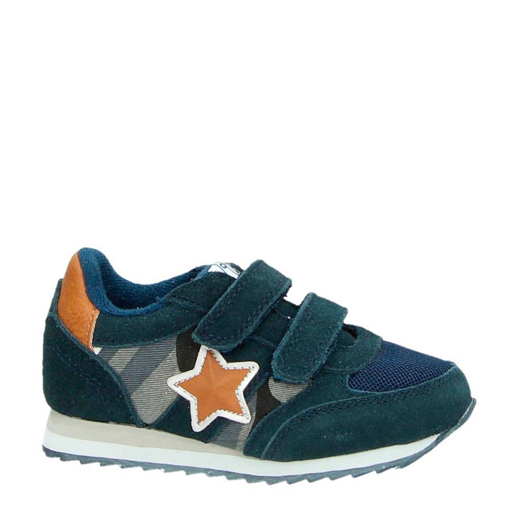 Orange Babies  suède sneakers blauw/oranje, Blauw/oranje
