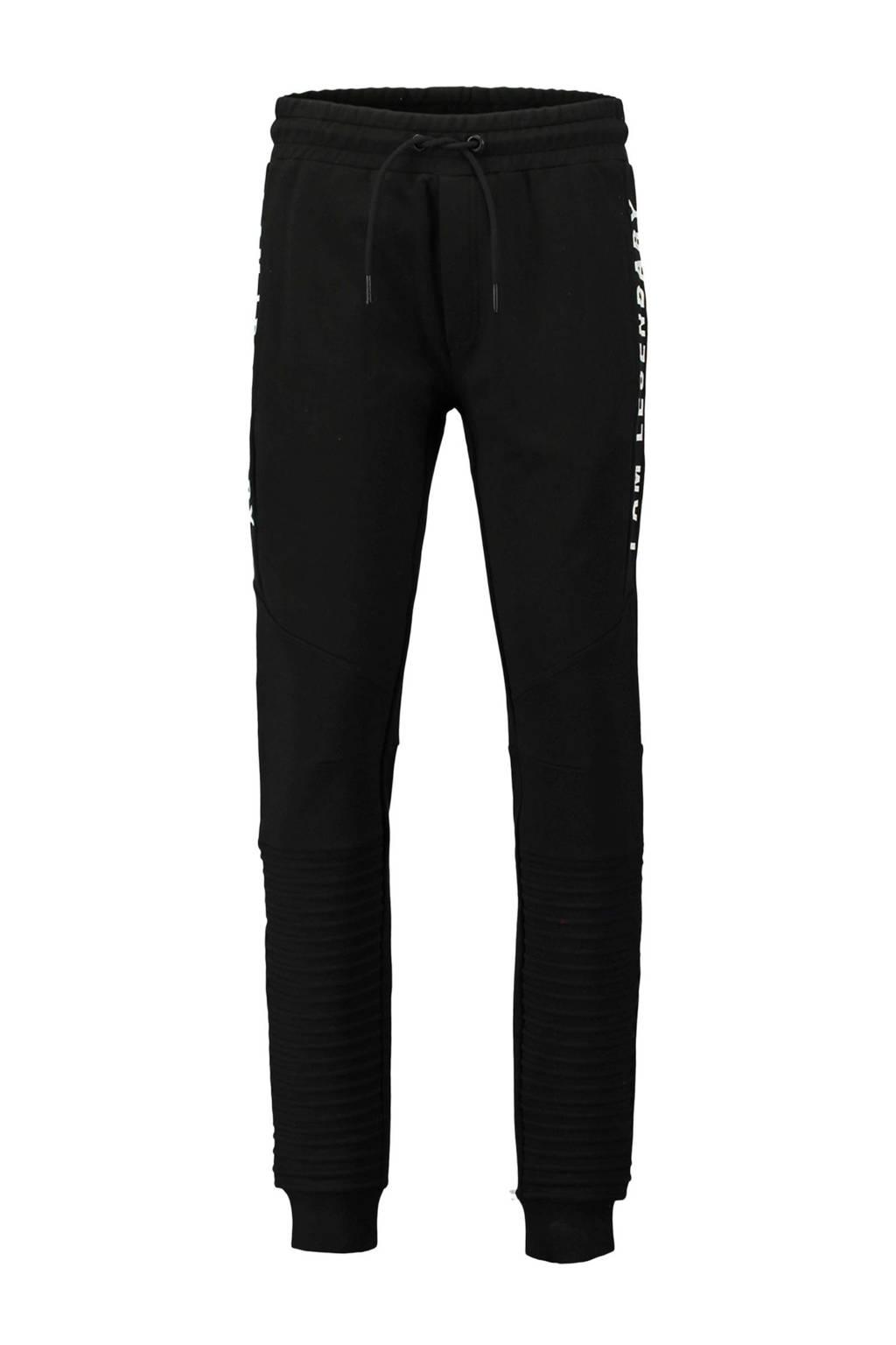 CoolCat   skinny sweatpants donkergroen, Zwart