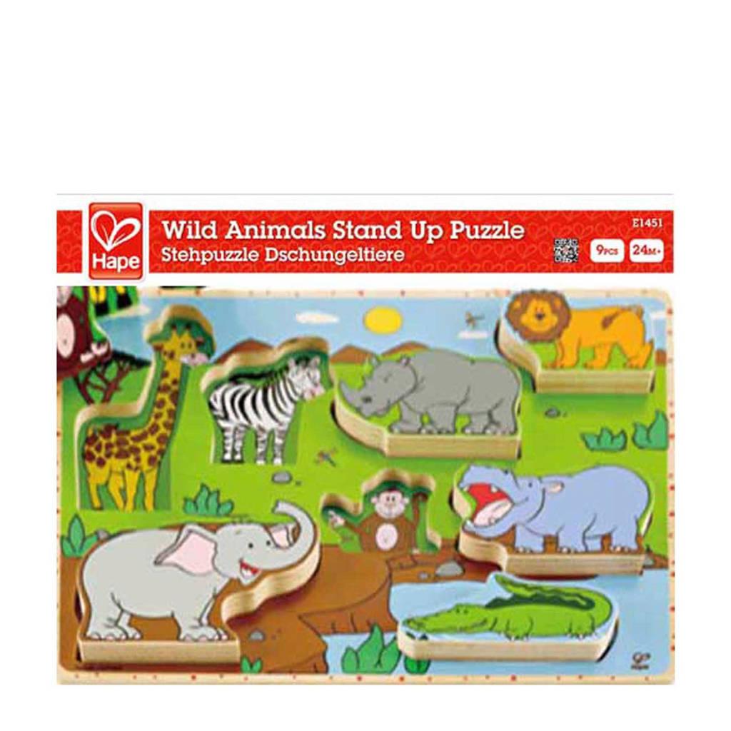 Hape  houten vormenpuzzel 8 stukjes