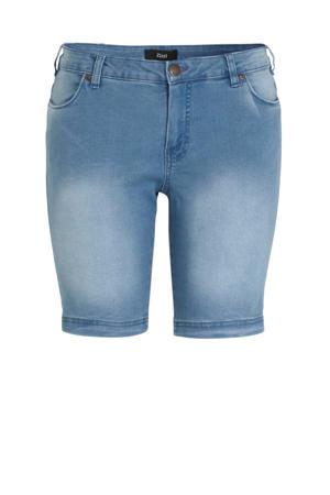 slim fit jeans short Emily lichtblauw