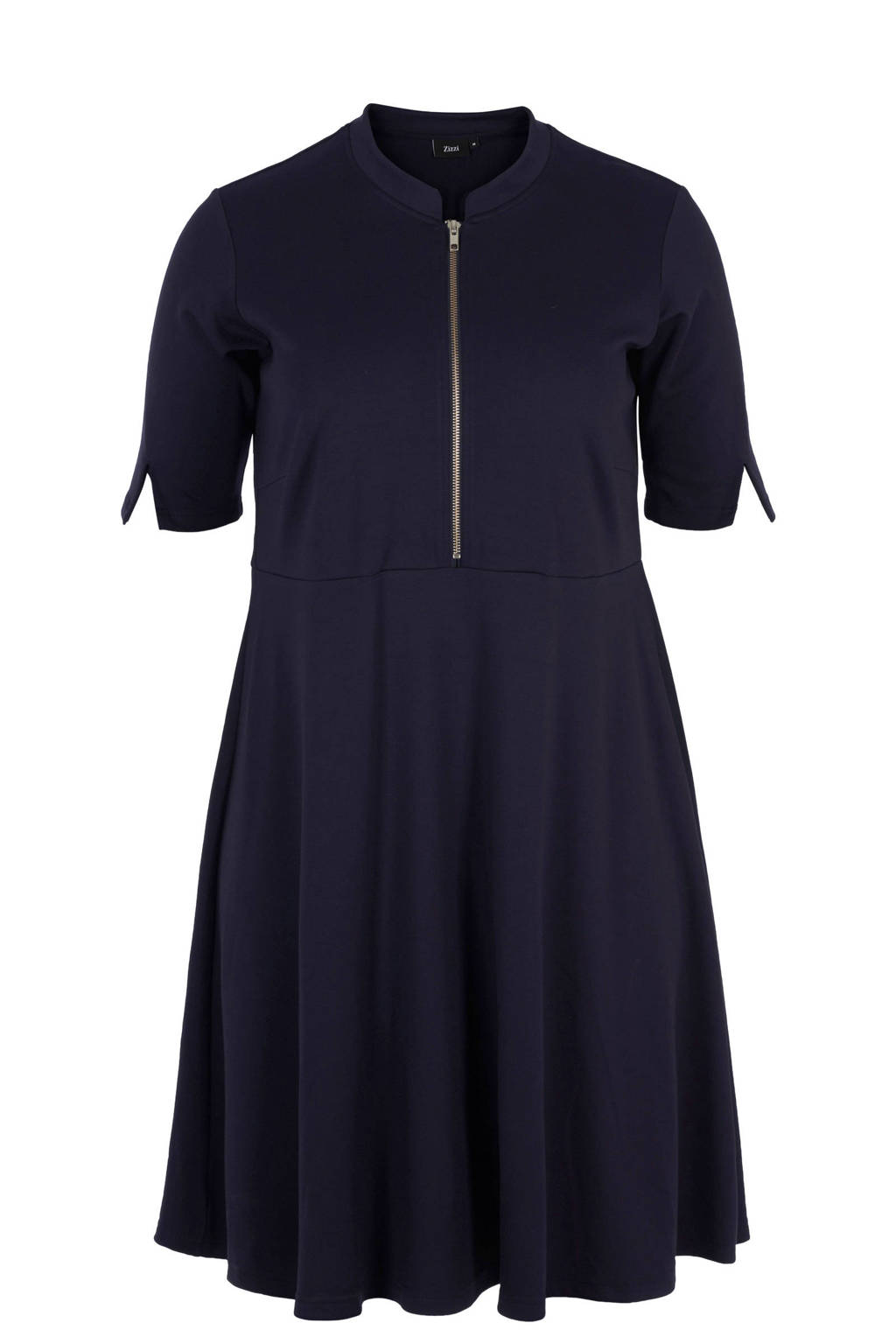 Zizzi jurk met rits, Donkerblauw