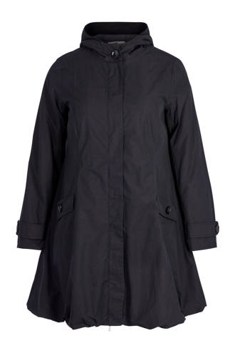 jas met capuchon zwart