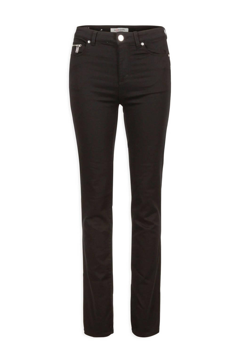 Morgan straight fit broek zwart, Zwart