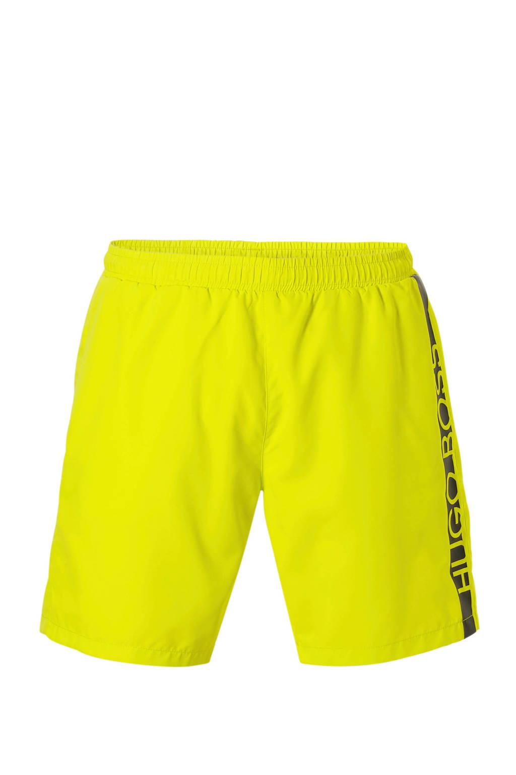 Boss zwemshort geel, Geel/zwart