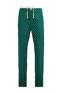 America Todaypyjamabroek met kerstprint groen