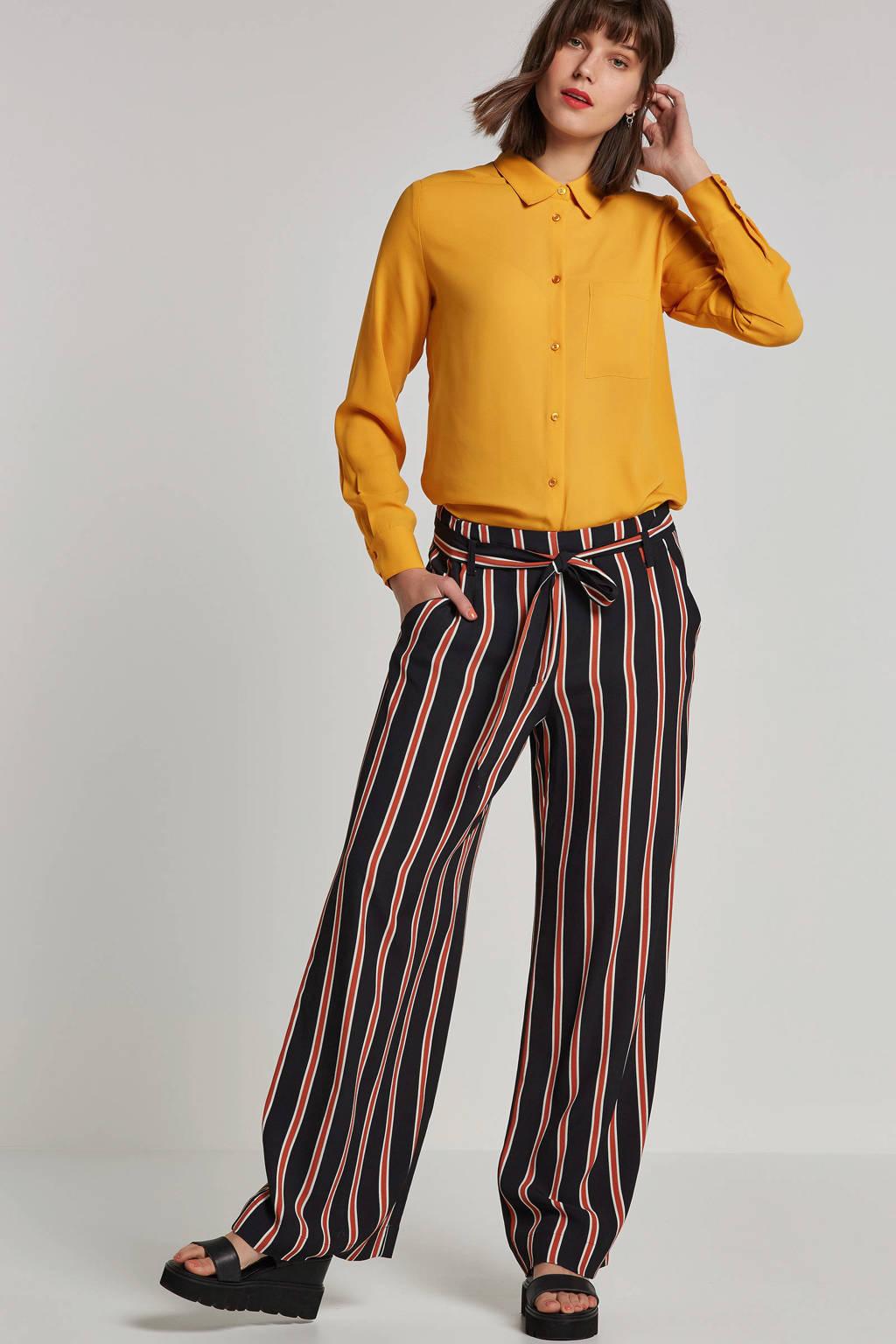 whkmp's own blouse van gerecycled polyester okergeel, Okergeel