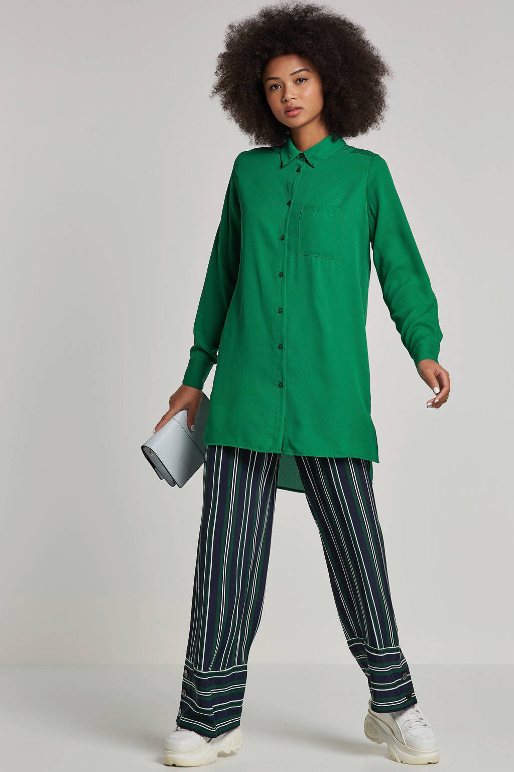 whkmp's own gerecycled polyester blouse (Waste2Wear), Groen