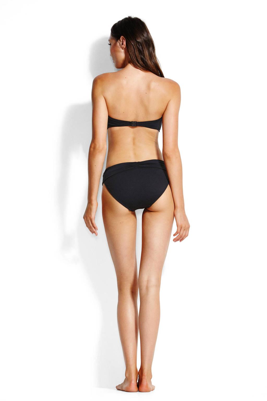 Seafolly bikinibroekje met plooien zwart, Zwart