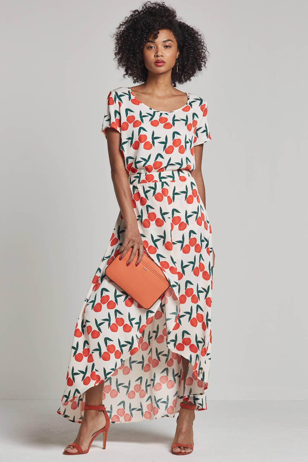 Fabienne Chapot Kerry top met all over print, Ecru/groen/oranje