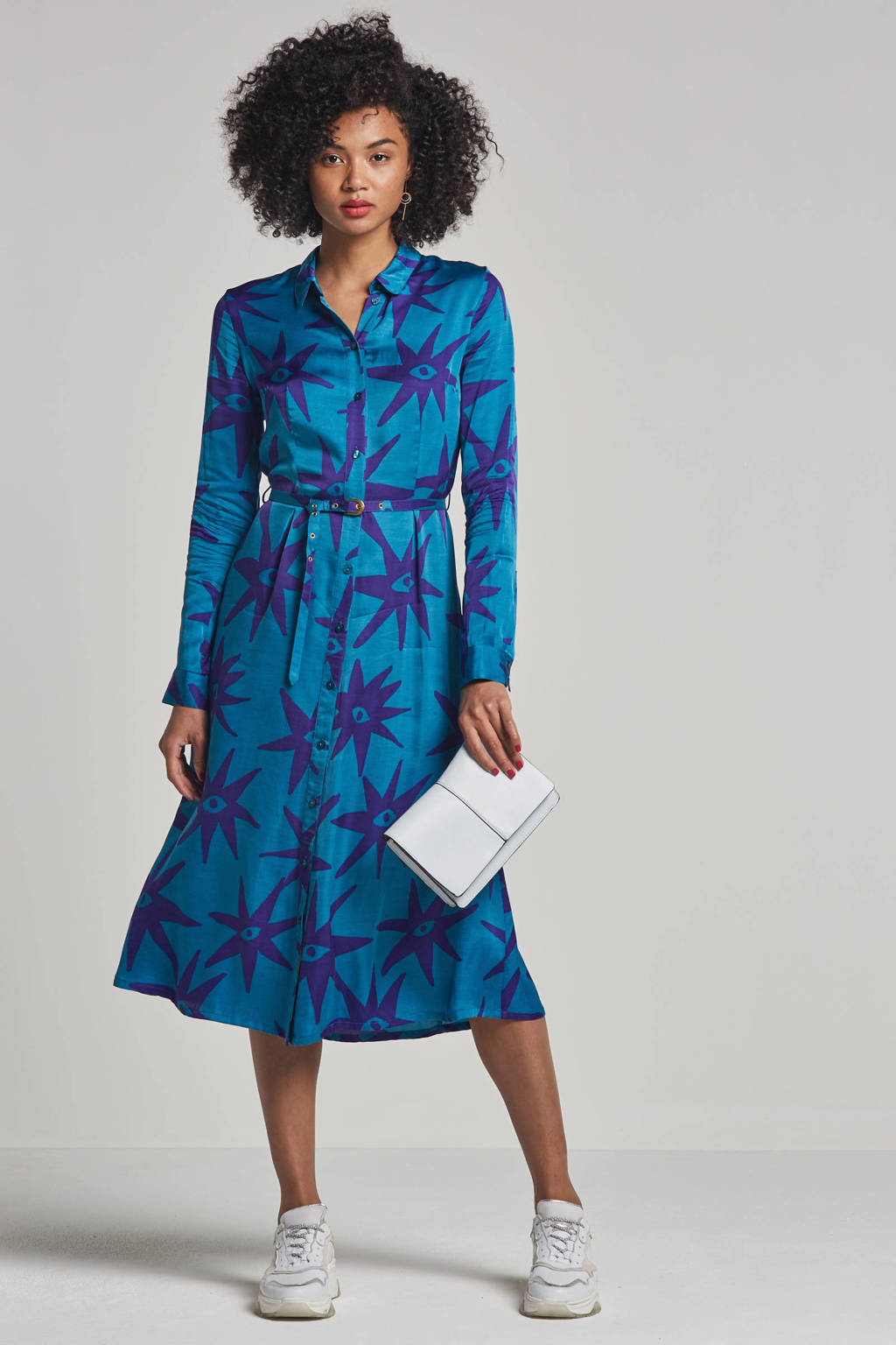 Fabienne Chapot Senne jurk met all over print, Blauw