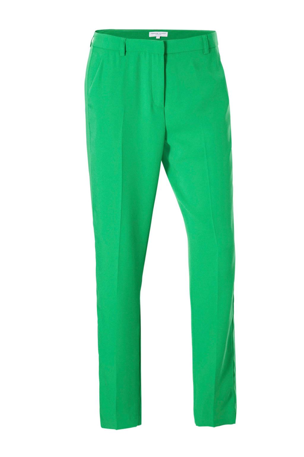 Fabienne Chapot Merel straight fit broek, Groen