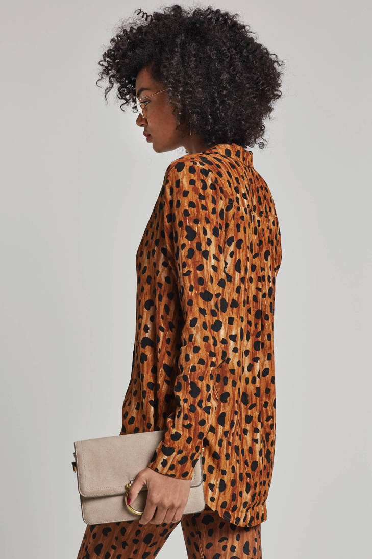 Lily all ceetah over print Fabienne Chapot blouse met UpOp75gq