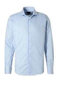 Profuomo gestreept slim fit overhemd blauw, wit, Blauw, wit