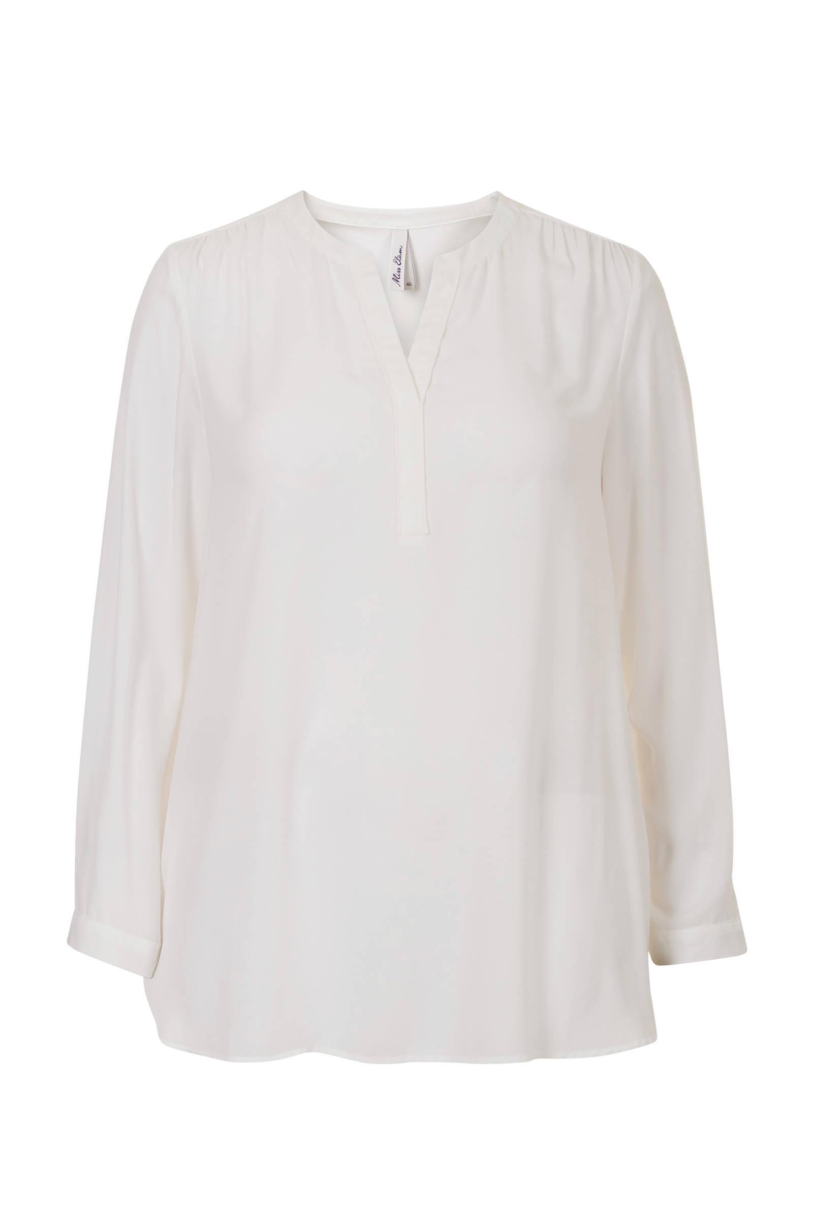 witte overslag blouse