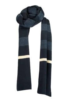 gestreepte sjaal Alonny blauw