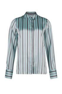 WE Fashion slim fit blouse met streepdessin blauw (dames)