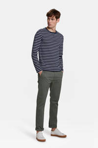 WE Fashion Blue Ridge skinny chino grijsgroen, Grijsgroen