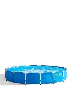 Frame zwembad Ø 457x84 cm met filterpomp