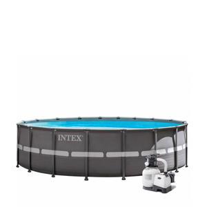 frame zwembad (Ø732x132 cm) met filterpomp