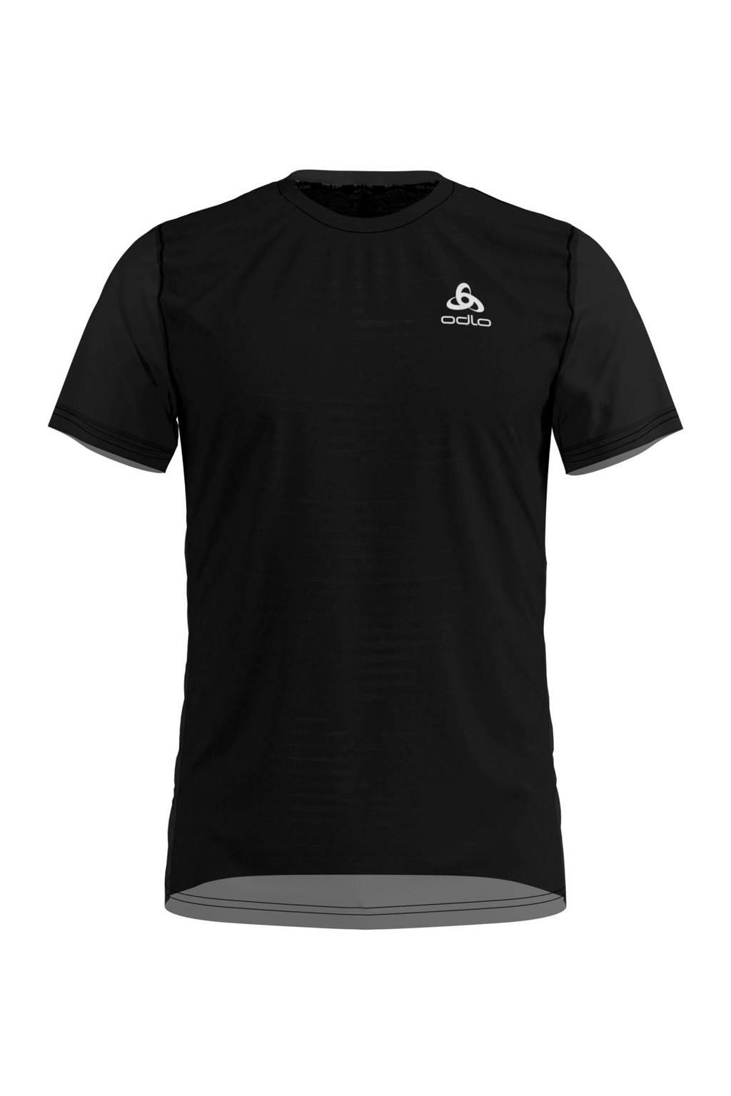 Odlo   hardloop T-shirt zwart, Zwart
