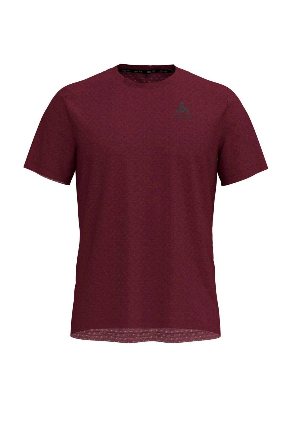 Odlo   hardloop T-shirt donkerrood, Donkerrood