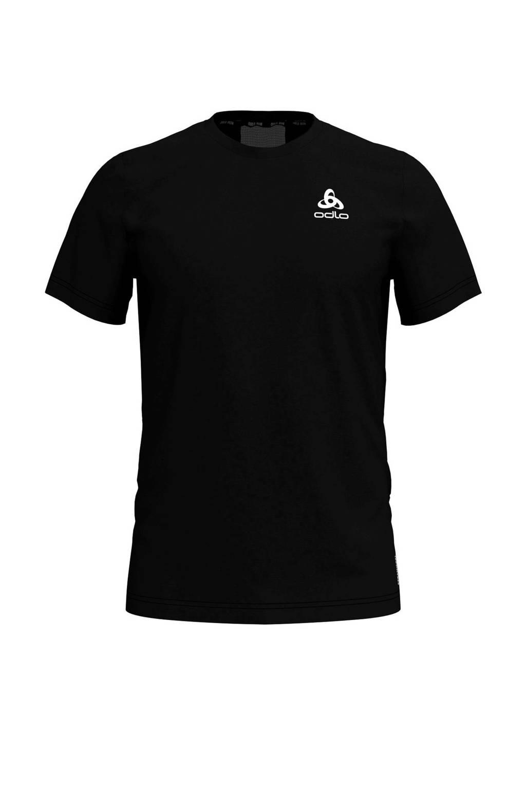 Odlo   hardloop T-shirt blauw, Zwart