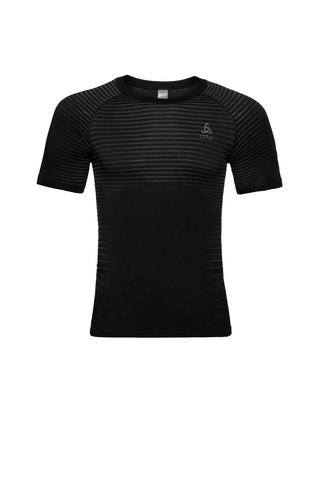 Odlo sport onder T-shirt zwart, Zwart