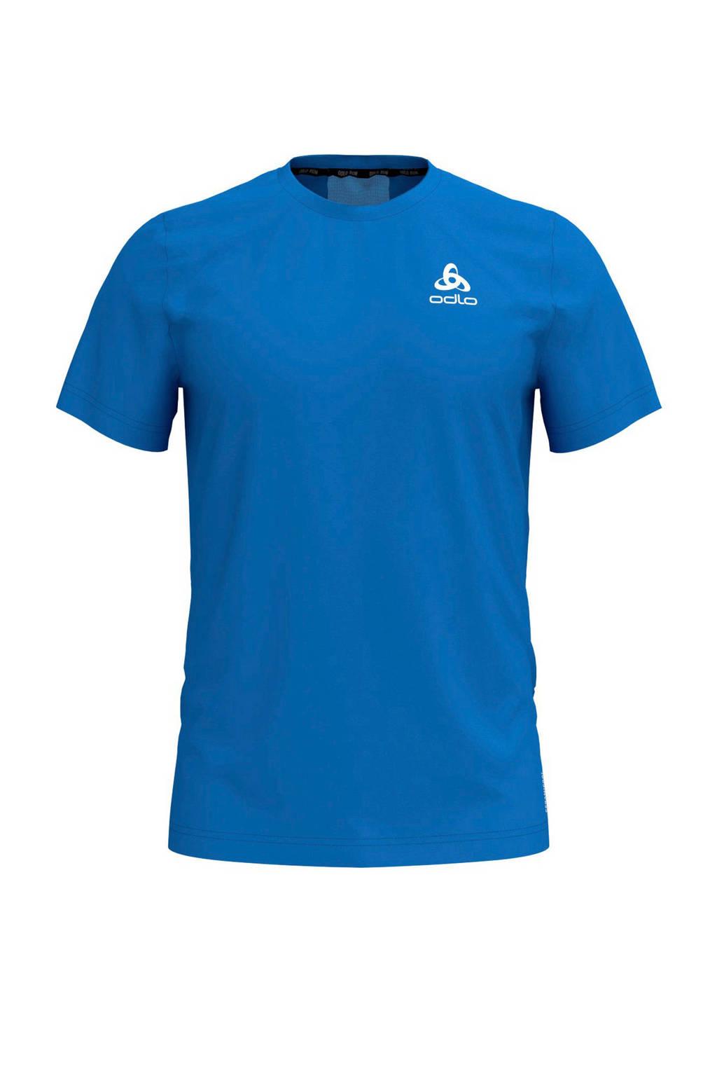 Odlo   hardloop T-shirt blauw, Blauw