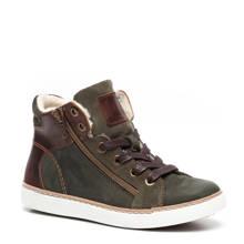 Groot leren sneakers groen