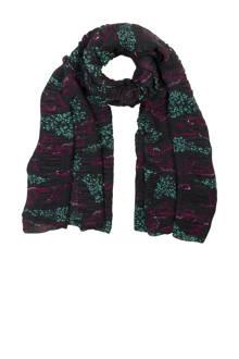 Accessoires sjaal met all over print groen