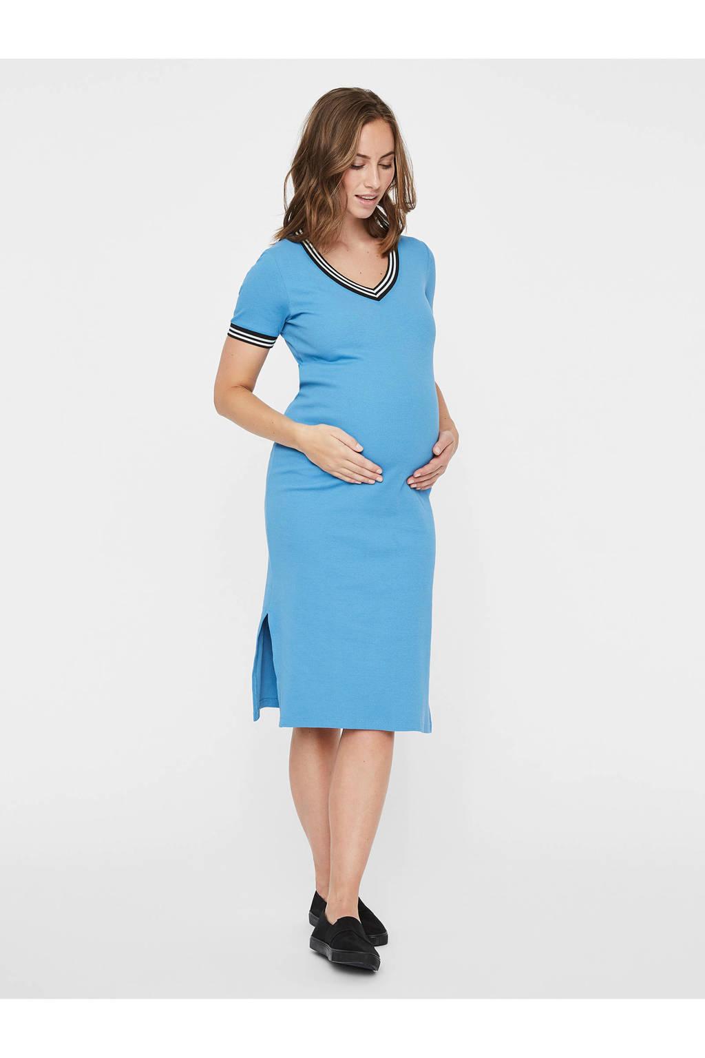 MAMALICIOUS zwangerschapsjurk met V-hals blauw, Blauw