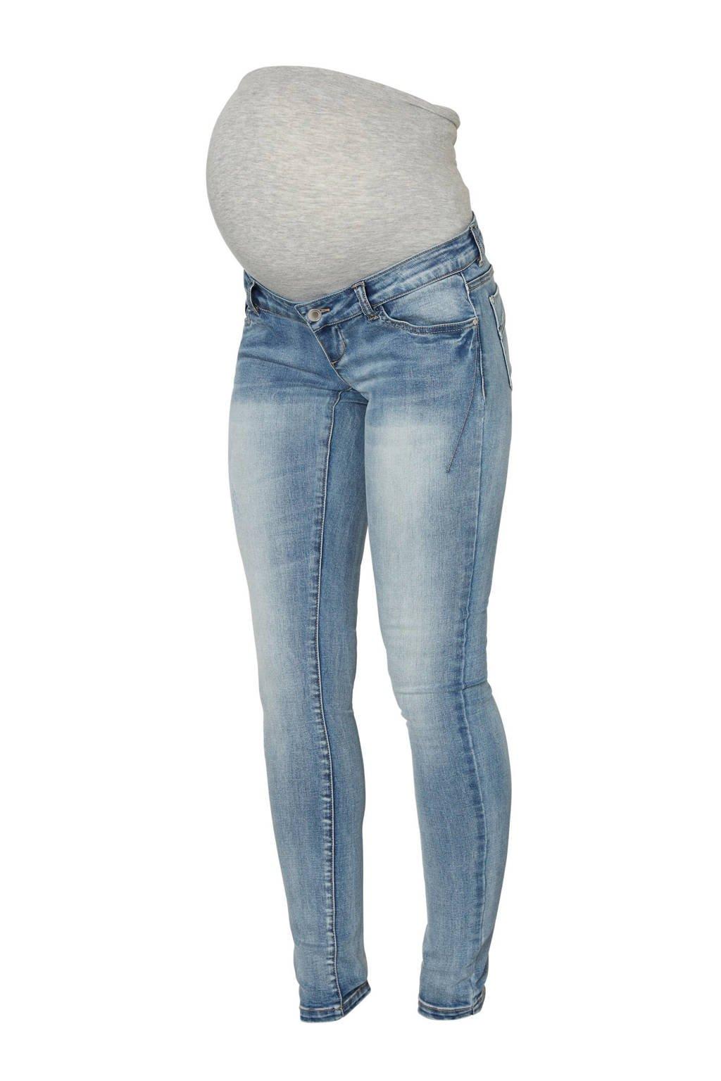 MAMA-LICIOUS slim fit zwangerschapsjeans, Light blue denim