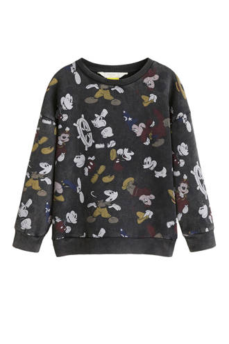 sweater met Mickey Mouse printopdruk antraciet