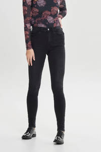 JACQUELINE DE YONG high waist skinny jeans JDYJONA black denim, Zwart