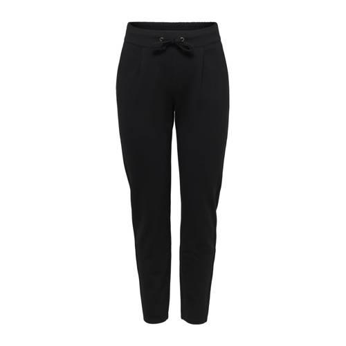JACQUELINE DE YONG tapered fit broek zwart
