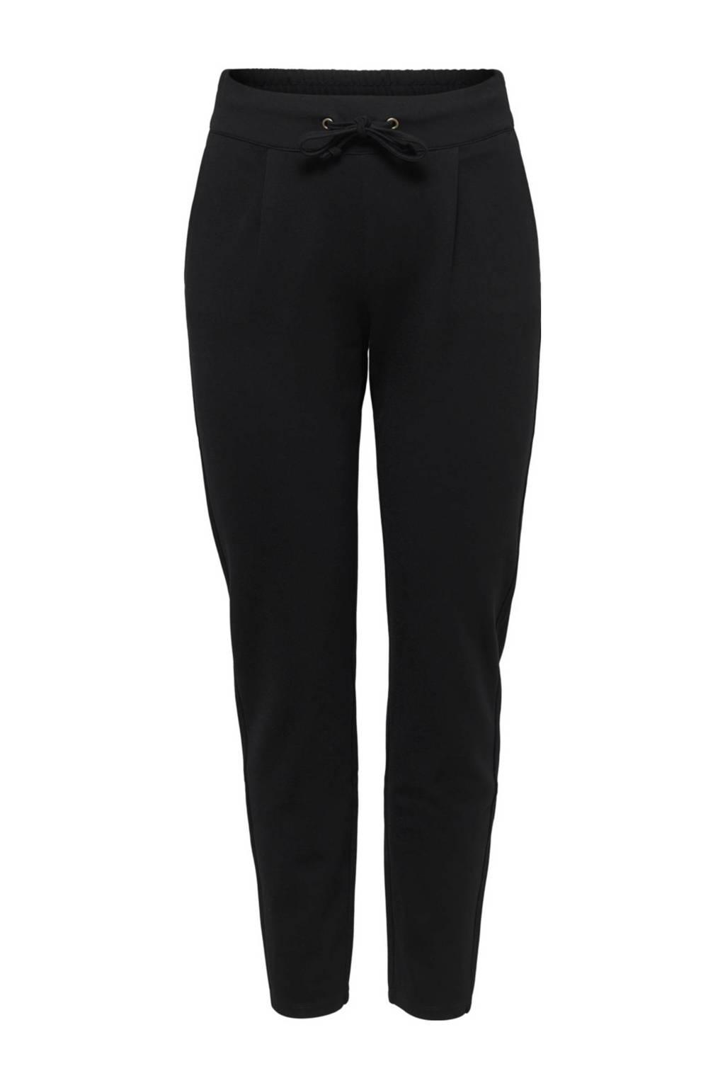 JACQUELINE DE YONG fijn gewoven broek zwart, Zwart