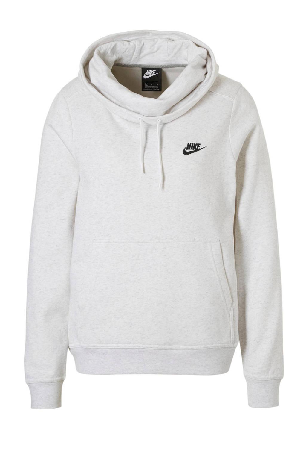 Nike hoodie lichtgrijs, Lichtgrijs melange