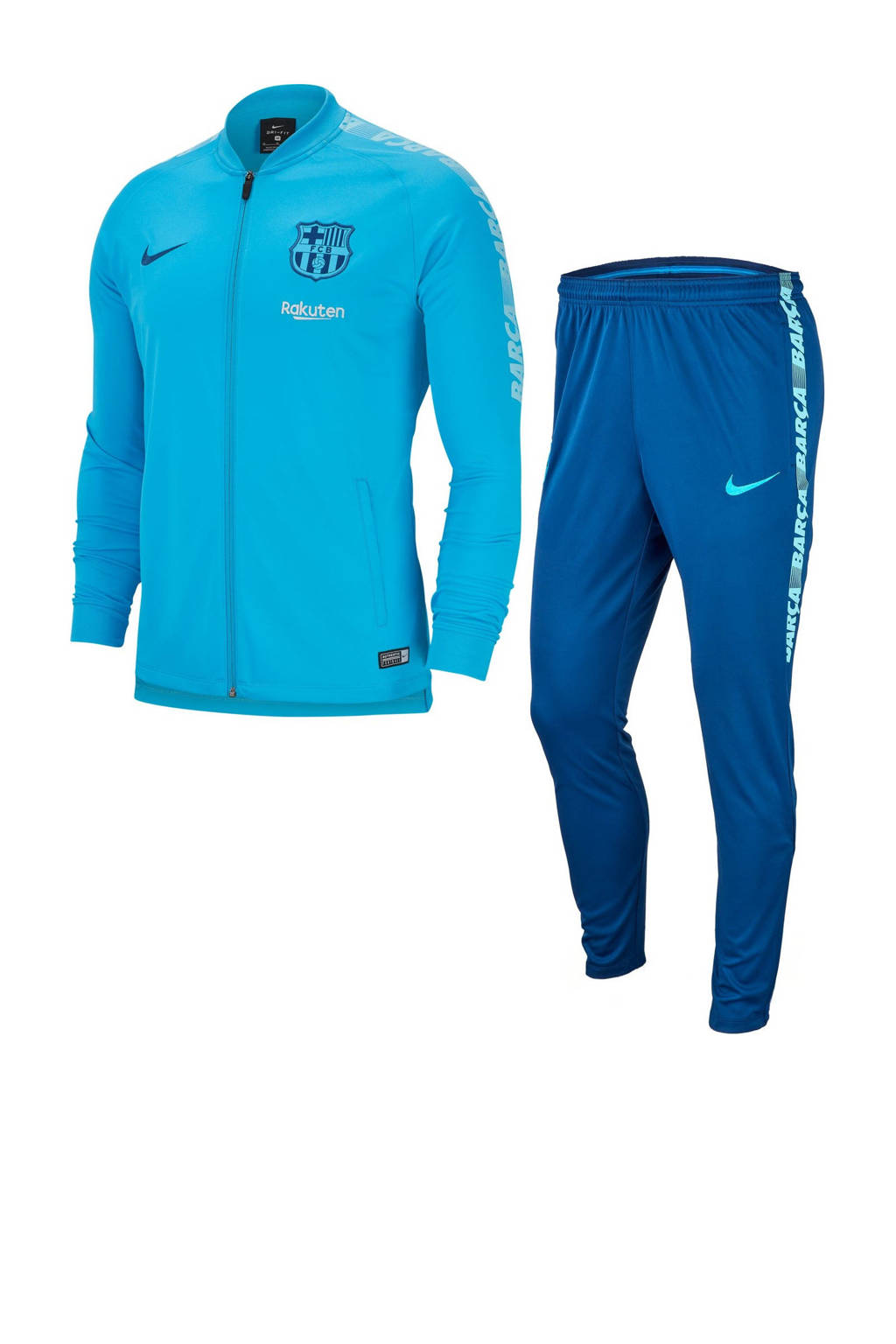 Nike Senior FC Barcelona trainingspak blauw, Lichtblauw/donkerblauw