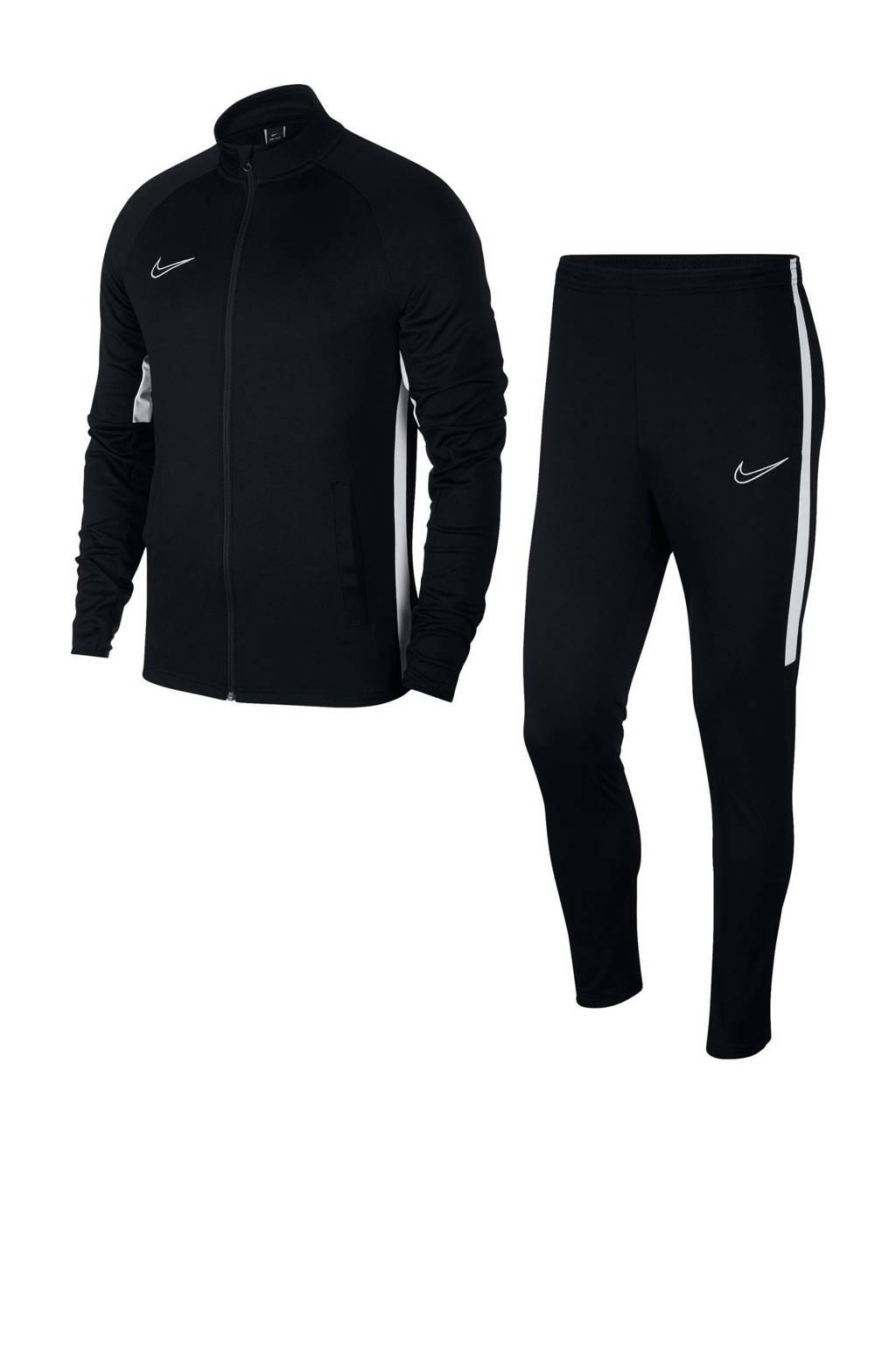 Nike   trainingspak zwart/wit, Zwart/wit
