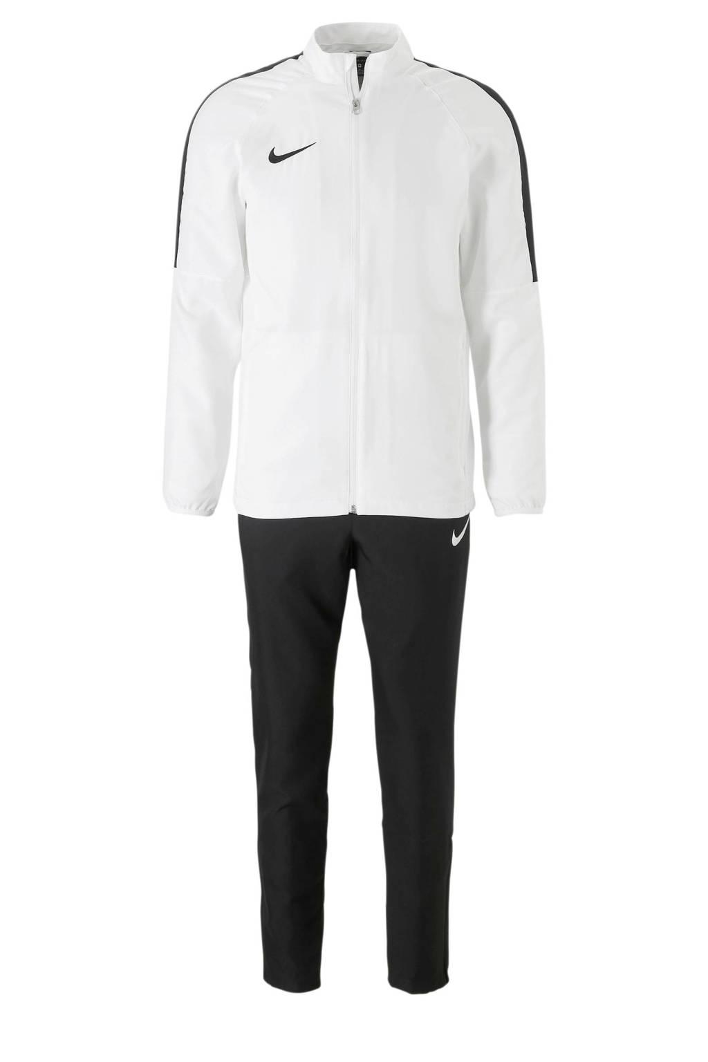 Nike   trainingspak wit, Zwart/wit