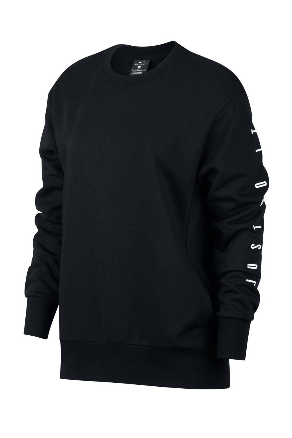 Nike sportsweater zwart, Zwart/wit